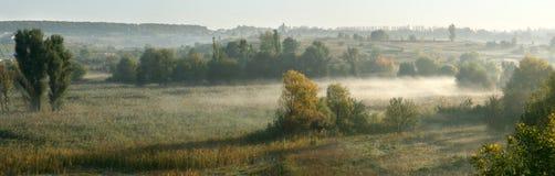 dzień dobry mgła. Obrazy Stock