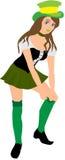 dzień dziewczyna Patrick święty Zdjęcia Royalty Free