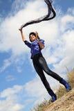dzień dziewczyny ja target792_0_ wietrzny Obraz Royalty Free