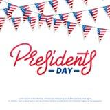 dzień ikon prezydent ustawiający Typograficzny literowanie logo dla usa prezydentów dni świętowania Obrazy Royalty Free