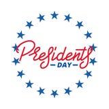 dzień ikon prezydent ustawiający Typograficzny literowanie logo dla usa prezydentów dni świętowania Obraz Royalty Free