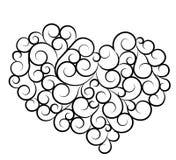 dzień kierowi miłości sylwetki symbolu valentines Obrazy Royalty Free