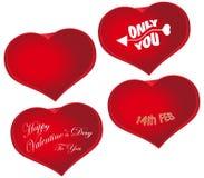 dzień kierowy miłości czerwieni s kształta symbolu valentine Zdjęcie Stock