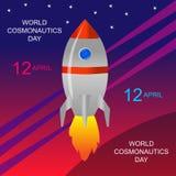 Dzień kosmonautyka 12 Kwiecień Obraz Royalty Free