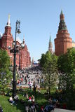 dzień Kremlin Moscow zwycięstwo Zdjęcia Stock