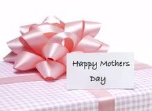 dzień kwiat daje mum syna matkom Zdjęcia Royalty Free