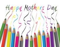 dzień kwiat daje mum syna matkom ilustracja wektor