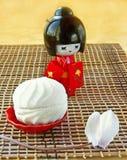 dzień lali japoński kimonowy biały zephyr Obrazy Stock