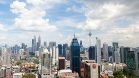 Dzień linii horyzontu upływ Kuala Lumpur Niecka up zbiory wideo