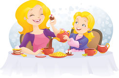 dzień matki przyjęcia s herbata ilustracji