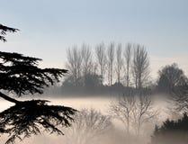 dzień mgliście kraju Zdjęcia Royalty Free