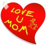 dzień miłości wiadomości matka s Obraz Royalty Free