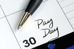 dzień miesiąc wynagrodzenie Obraz Stock