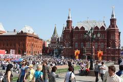 dzień Moscow zwycięstwo Fotografia Royalty Free