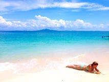 dzień na plaży Obrazy Royalty Free