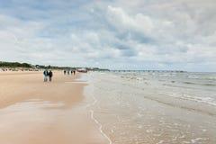 Dzień na plaży - morze bałtyckie wyspa Usedom obraz royalty free