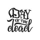 dzień nie żyje Wręcza kreślący piszący list dzień nieboszczyk dla pocztówki Zdjęcia Royalty Free