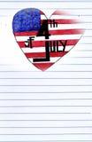 Dzień Niepodległości Ameryka w sercu Fotografia Stock