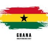 Dzień Niepodległości Ghana kartka z pozdrowieniami royalty ilustracja