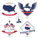 Dzień Niepodległości ikona i odznaka Obraz Stock