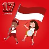 Dzień Niepodległości republika Indonezja na 17th Sierpień ilustracji