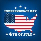 Dzień Niepodległości silhouette-06 Zdjęcie Stock