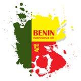 Dzień Niepodległości stan Benin Sierpień 1 Patriotyczny święto narodowe w kraju afrykańskim Abstrakcjonistyczna forma ilustracja wektor