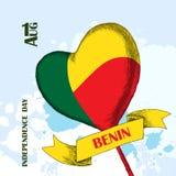 Dzień Niepodległości stan Benin Sierpień 1 Patriotyczny święto narodowe w kraju afrykańskim Balon z a ilustracja wektor