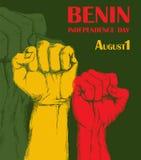 Dzień Niepodległości stan Benin Sierpień 1 Patriotyczny święto narodowe w kraju afrykańskim Set ilustracja wektor