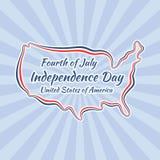 Dzień Niepodległości (Stany Zjednoczone) royalty ilustracja