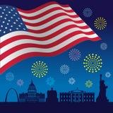 Dzień Niepodległości Stany Zjednoczone Ameryka tło Obraz Stock