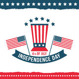 Dzień Niepodległości Stany Zjednoczone plakata set Obraz Stock