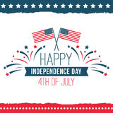 Dzień Niepodległości Stany Zjednoczone plakata set Obrazy Royalty Free
