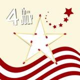 Dzień Niepodległości - 4 th Lipa Retro Wektorowa ilustracja Zdjęcia Stock