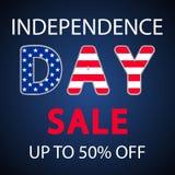 Dzień Niepodległości usa sprzedaży sztandaru szablonu projekt ilustracja wektor