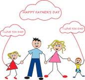 dzień ojciec szczęśliwy s Obrazy Stock