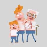 dzień ojciec szczęśliwy s ilustracji
