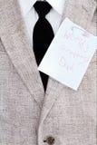 dzień ojcuje szczęśliwą notatkę Zdjęcia Stock