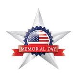 Dzień pamięci gwiazdowa odznaka zdjęcia stock