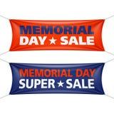 Dzień Pamięci sprzedaży sztandary Fotografia Royalty Free
