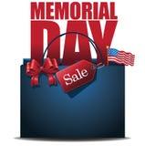 Dzień Pamięci sprzedaży torba na zakupy tło Fotografia Stock