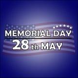 Dzień Pamięci 28th May ilustracji