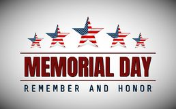 Dzień Pamięci z gwiazdą w flaga państowowa kolorach zdjęcie stock
