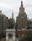 dzień piąty avenue nowy York chmurzący fotografia stock