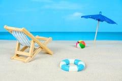 dzień plażowa diorama Zdjęcie Royalty Free