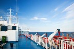 dzień pokładu oceanu statku pogodny widok Zdjęcia Royalty Free