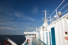 dzień pokładu oceanu statku pogodny widok Obrazy Royalty Free