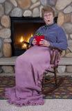 dzień prezenta babci matek teraźniejszy zdziwiony Fotografia Stock