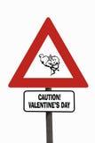 dzień roadsign s valentine Zdjęcie Royalty Free