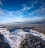 dzień rzeka lasowa mroźna Zdjęcia Royalty Free